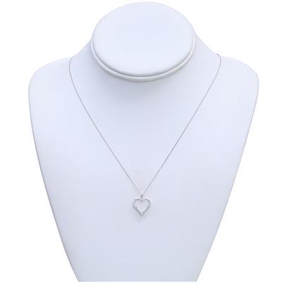 1/4 CTW Diamond Heart Pendant in 14K White Gold
