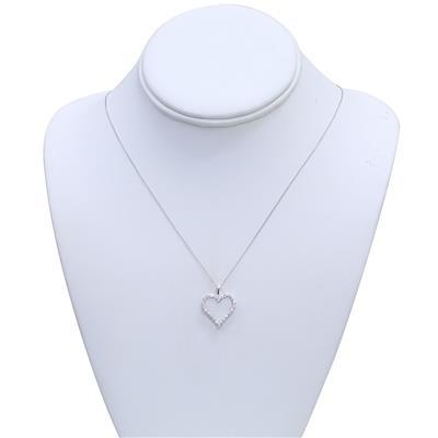 1/2 CTW Diamond Heart Pendant in 14K White Gold