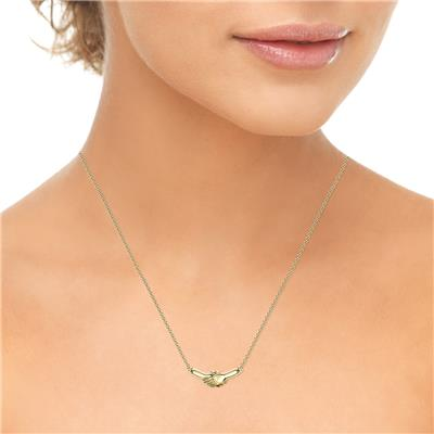Ted Poley Miss Your Touch Hand in Hand Necklace in 10K Yellow Gold