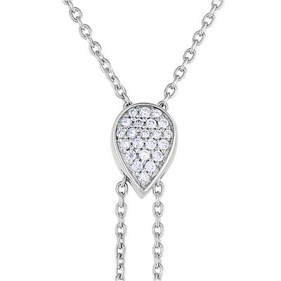 1/4 Carat TW Diamond Droplets Necklace In Sterling Silver, 18 Inches
