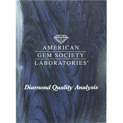 AGS Certified 3/4 Carat Diamond Bezel Pendant in 14K Yellow Gold