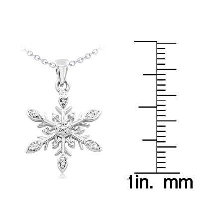 Diamond Accent Snowflake Necklace, 18 Inches
