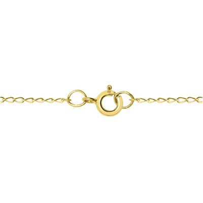 Small Cross Pendant Necklace in 10K Yellow Gold with Rhodium Polish Accents
