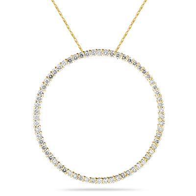 1.00ctw Diamond Circle Pendant in 14K Yellow  Gold