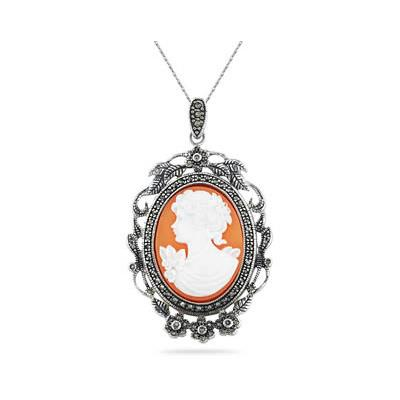 Cameo MOM Pendant in .925 Sterling Silver