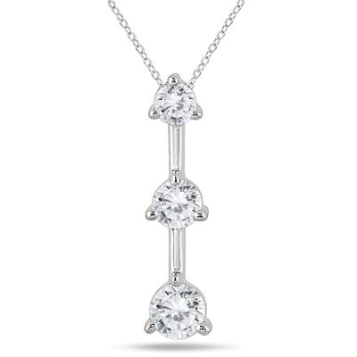 1/2 Carat TW Three Stone Diamond Pendant