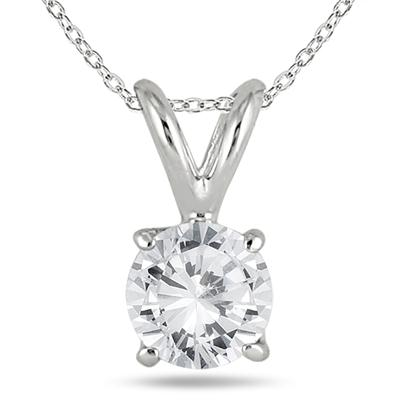 5/8 Carat TW Diamond Pendant and Earring Set in 14K White Gold