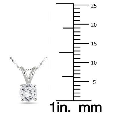 14K White Gold 1 Carat TW AGS Certified Diamond Pendant and Earring Matching Set