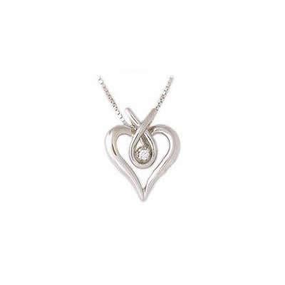 Diamond Heary Ribbon Pendant