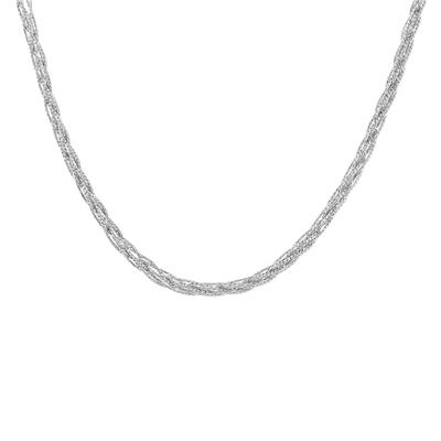 .925 Sterling Silver Mesh Necklace and Bracelet Set