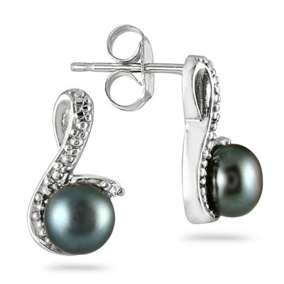 6.5 MM Freshwater Cultured Pearl Earrings in .925 Sterling Silver