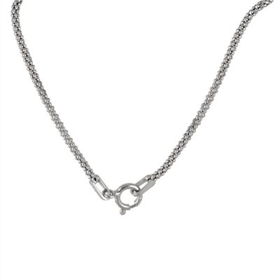 All Natural Freshwater Grey Cultured Pearl Love Knot Necklace in .925 Sterling Silver