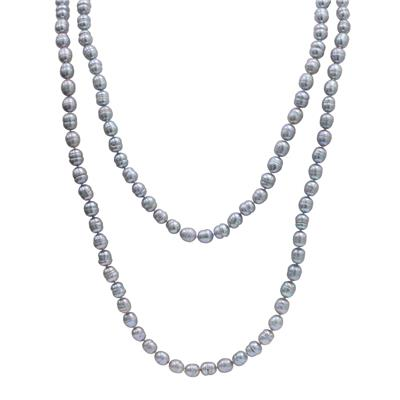8.5-9MM Grey Potato Freshwater Cultured Pearl Necklace