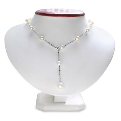 18 Inch Pearl Lariat Women's Necklace