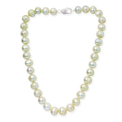12-12.5MM White Freshwater Cultured Pearl Necklace and Matching Bracelet Set
