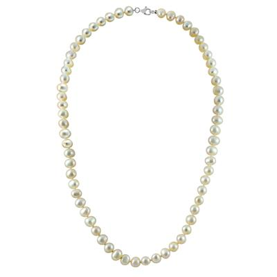 7mm White Freshwater Cultured White Pearl 3 Piece Jewelry Ensemble in .925 Sterling Silver