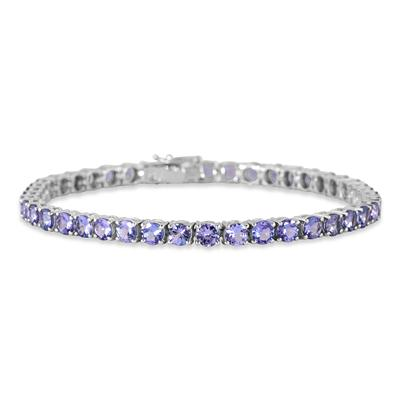 10.75 Carat Tanzanite Bracelet in .925 Sterling Silver