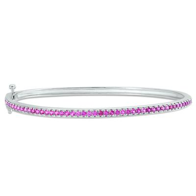 Lab Created Ruby Bangle in .925 Sterling Silver