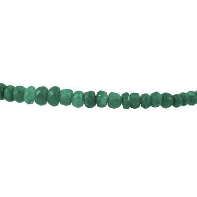 20 Carat All Natural Beaded Emerald Bracelet with Magnetic Clasp