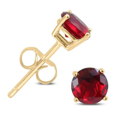 5mm Lab Created Ruby Stud Earrings