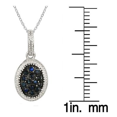 1/5 Carat Sapphire Drusy Pendant in .925 Sterling Silver