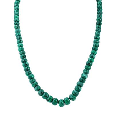 All Natural Genuine 300 Carat Emerald Necklace with Sterling Silver Clasp