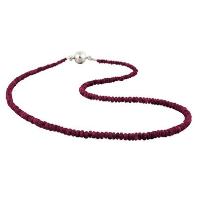 35 Carat All Natural Ruby Necklace with Magnetic Clasp