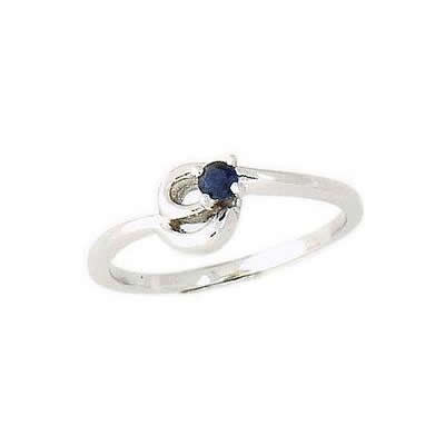 Sapphire Twist Rings 14K White Gold