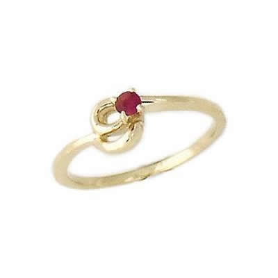 Ruby and Diamond Twist Rings 14K Yellow Gold
