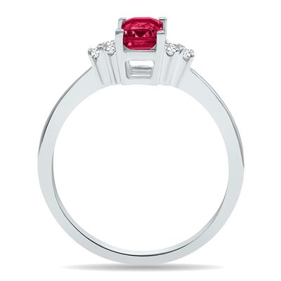 Ruby and Diamond Regal Ring in 10K White Gold