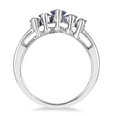 1.25 Carat Tanzanite Brilliance Ring in .925 Sterling Silver