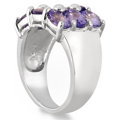 4 Carat Tanzanite Cocktail Ring in .925 Sterling Silver