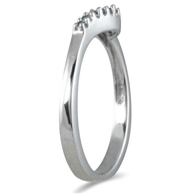 1/10 Carat TW Blue Diamond Twist Ring in 10K White Gold
