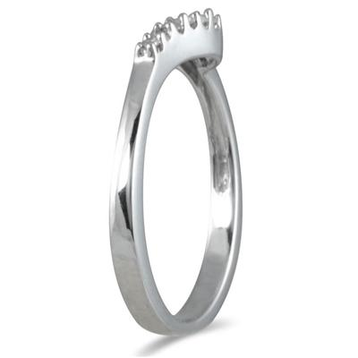 1/10 Carat TW Diamond Twist Ring in 10K White Gold