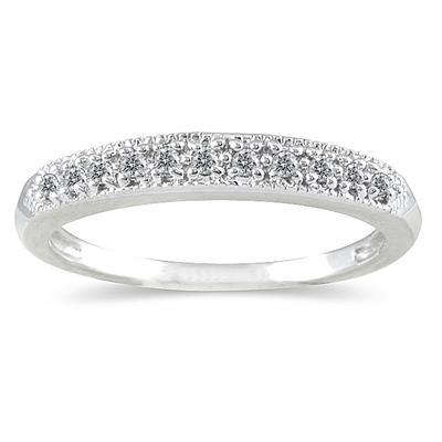 1/10 Carat TW Diamond Wedding Band in 10K White Gold