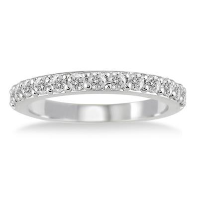 1/2 Carat TW Diamond Wedding Band in 10K White Gold