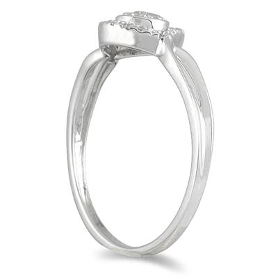 1/10 Carat TW Diamond Ring in 10K White Gold