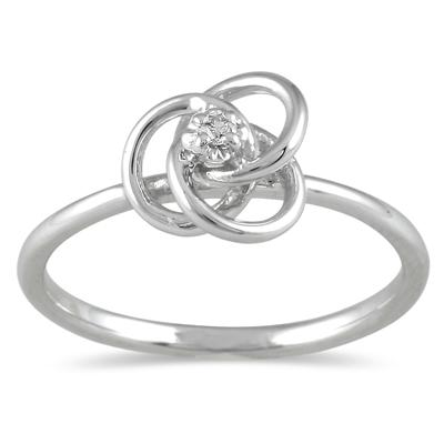 Diamond Swirl Promise Ring in 10K White Gold