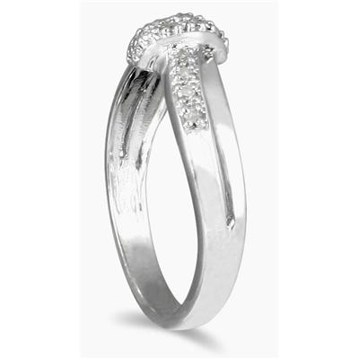 0.05 Carat TW Diamond Knot Ring in .925 Sterling Silver