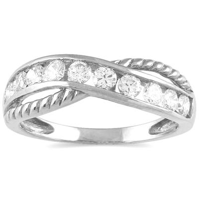1/2 Carat TW 10 Stone Diamond Ring in 10K White Gold