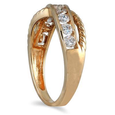 1/2 Carat TW 10 Stone Diamond Ring in 14K Yellow Gold