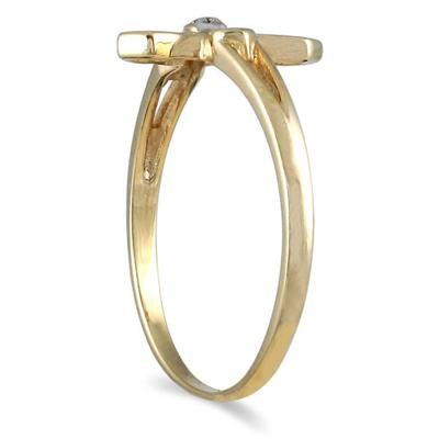 .05 Carat Diamond Promise Ring in 10K Yellow Gold