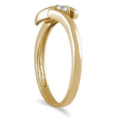 1/10 Carat Diamond Ring in 14K Yellow Gold