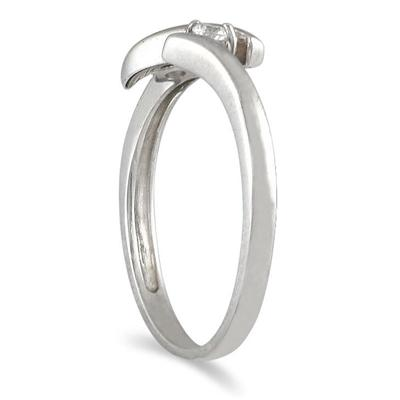 1/10 Carat Diamond Ring in 14K White Gold