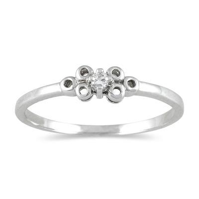 0.03 CTW Diamond Promise Ring in 10K White Gold