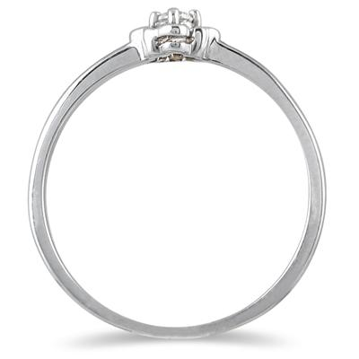 .05 Carat Diamond Antique Promise Ring in 10K White Gold