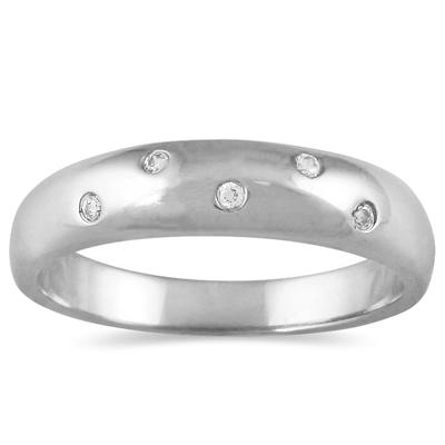 Diamond 5 Sparkles Ring in 10K White Gold