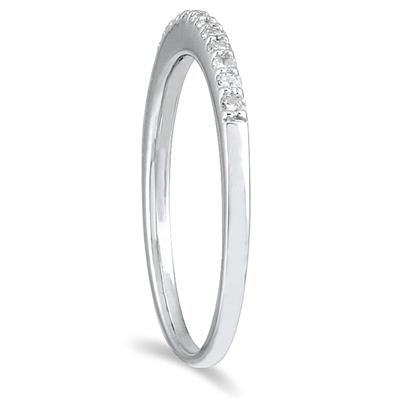 1/8 Carat TW Diamond Wedding Band in 10K White Gold