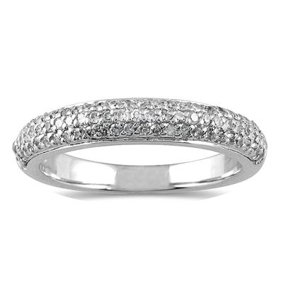 2/5 Carat TW Diamond Wedding Band in 10K White Gold