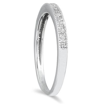 1/10 Carat TW Diamond Wedding Band in 10K White Gold